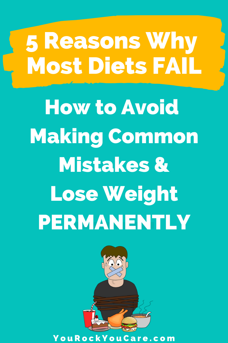 5 Reasons Why Most Diets Fail: How to Avoid Common Weight Control Mistakes